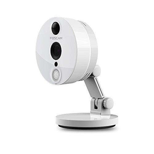 Foscam C2 Full HD 2MP IP WLAN Kamera / Überwachungskamera mit Infrarot-Sensor (PIR), MicroSD-Kartenslot, Bewegungserkennung, 2-Wege-Audio-Übertragung - Weiß